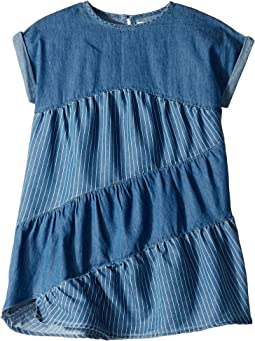 Tencel Mixed Stripe Dress (Toddler/Little Kids)