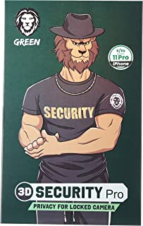 Green 3D Security Pro Privacy Glass Screen Protector - Black - iPhone 11 Pro