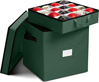 Best Premium Christmas Ornament storage Box with Lid - 3-inch Compartment, Storage Container Keeps 64 Holiday Ornaments and Xmas Decorations Accessories - Tear Proof 600D Oxford Fabric Review