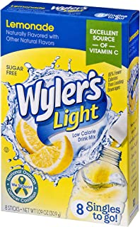 Wyler's Light Singles To Go Powder Packets, Water Drink Mix, Lemonade, 96 Single Servings (Pack of 12)