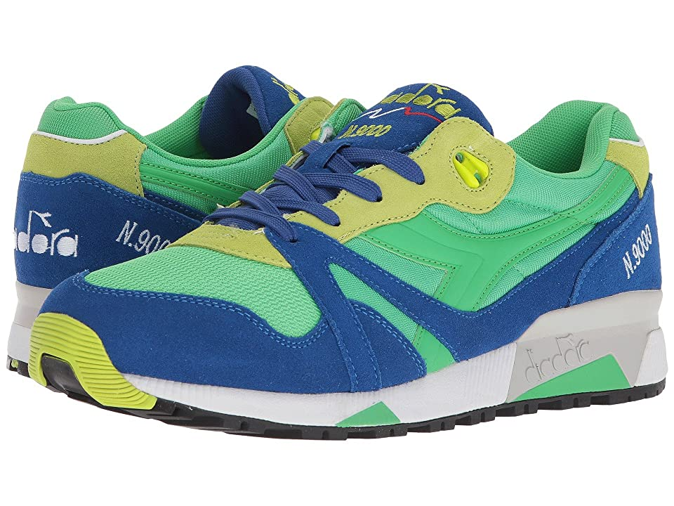 Diadora N9000 NYL (Irish Green/Lime Punch) Athletic Shoes