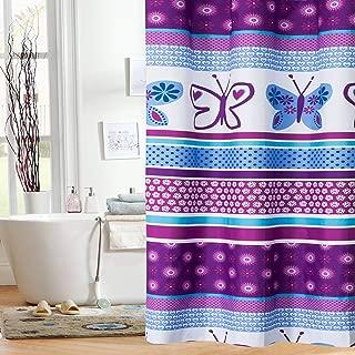 Mainstays Kids Purple Butterfly Shower Curtain