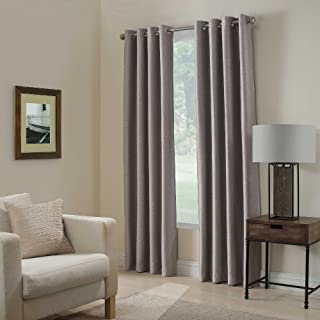 Gorgeous HomeDIFFERENT SOLID COLORS & SIZES (#34) 1 PANEL SOLID THERMAL FOAM LINED BLACKOUT HEAVY THICK WINDOW CURTAIN DRAPES SILVER GROMMETS (SILVER GRAY, 108