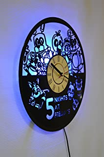 Five Nights at Freddy's Design Wall Light, Night Light Function, Original Home Interior Decor, Wall Lamp, Perfect Gift (Blue)