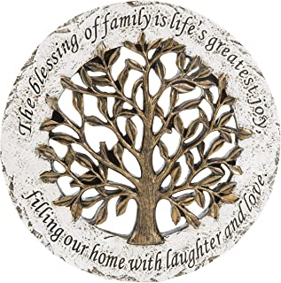 MyGift Life Tree Style Garden Resin Stepping Stone/Wall Mounted Decor