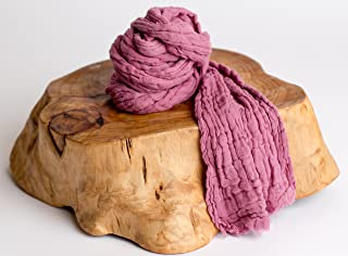 """Large Mulberry Color Cheesecloth wrap Newborn Photo Prop 36"""" X 72"""" (3ft X 6ft) by Posey Pillow"""