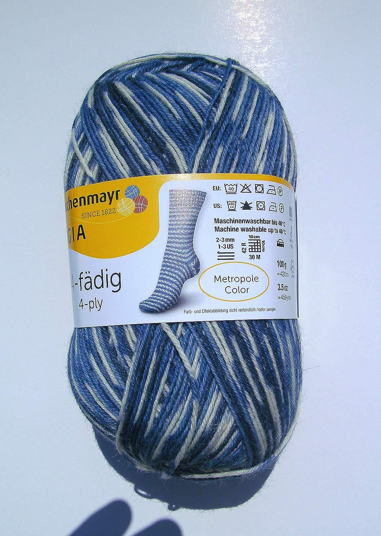 100 gr, metro pole Coloree federa 4495, 4-fili, Novità 2015, calza lana