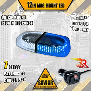 240-LED Rooftop Light Bar - Emergency Flashing/Construction/Police Light/First Responder Warning Light Bar - 10FT Dual Rapid Switch - White/Blue