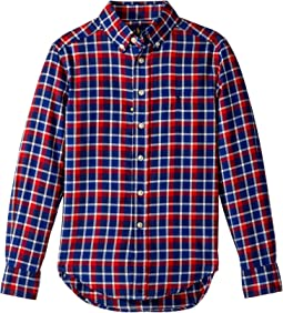 Polo Ralph Lauren Kids - Plaid Cotton Twill Shirt (Big Kids)