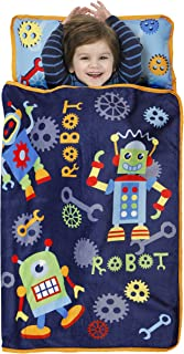 Baby Boom Nap Mat Set - Includes Pillow and Fleece Blanket – Great for Boys and Girls Napping at Daycare, Preschool, or Kindergarten - Fits Sleeping Toddlers and Young Children - Kid Friendly Design