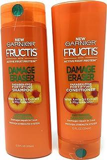 مجموعة شامبو غارنييه للعناية بالشعر Fructis Darmage Eraser (12.5 أونصة) وبلسم (12 أونصة)