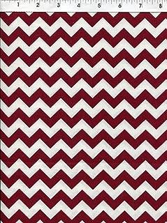 Best burgundy chevron fabric Reviews