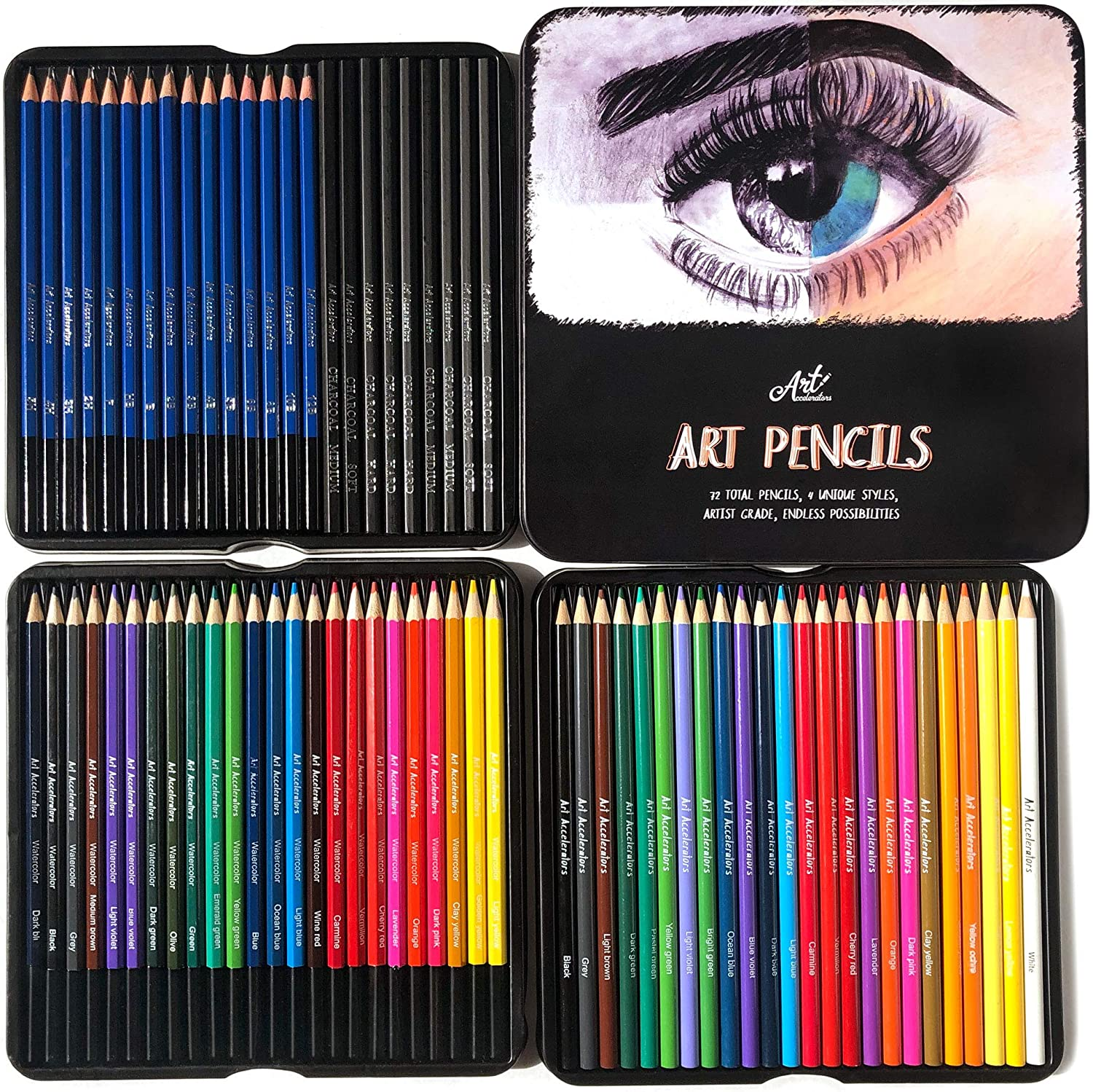 Art Pencils Drawing Kit Over item handling ☆ – 72 Pencil w 15 Limited time cheap sale Supplies Sket Set