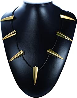 Cosplay Black Panther Choker Necklace for Men Women King T'Challa Wakanda Costume War Necklace Halloween Decor Necklace Jewelry