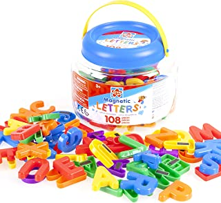 Grow'n Up 108pcs Magnetic Letters, Upper Case