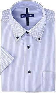 [スティングロード] ワイシャツ パーフェクトノーアイロン ボタンダウン クールビズ ニットシャツ 超形態安定 ストレッチ レギュラーフィット ST500 メンズ