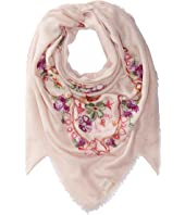 Collection XIIX Swirly Floral Embroidered Square