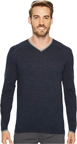 Fin Long Sleeve V-Neck 14GG Sweater
