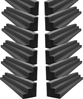 Foamily XL Column Acoustic Wedge Studio Foam Corner Block Finish Corner Wall in Studios or Home Theater (12 Pack)