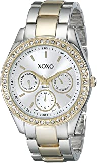 XOXO Womens Quartz Watch, Analog Display and Gold Plated Strap XO5429
