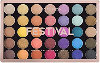 Profusion Cosmetics 35 Shade Eyeshadow Palette Collection, Festival