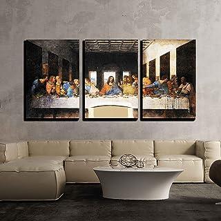 "wall26 - Last Supper Leonardo Da Vinci - Canvas Art Wall Art -16""x24""x3 Panels"