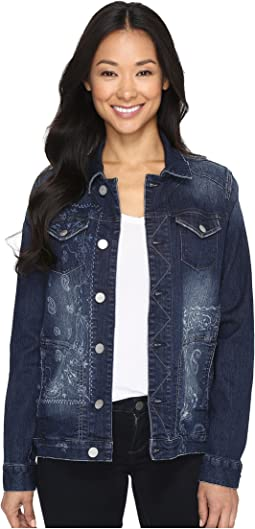 Lowen Laser Mission Denim Jacket in Rapid Dark