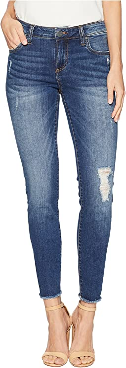 Connie Ankle Skinny Fray Hem Jeans in Accomplished