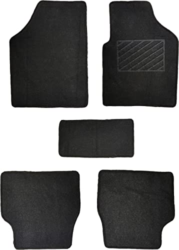 Flomaster UC Carpet Mat for Car (Set of 4, Black)