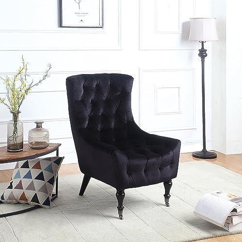 Black Velvet Chairs: Amazon.com