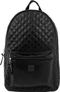 Urban Classics Diamond Quilt Leather Imitation Backpack Sac à Dos Loisir, 45 cm, 22 liters, Vert (Olive)