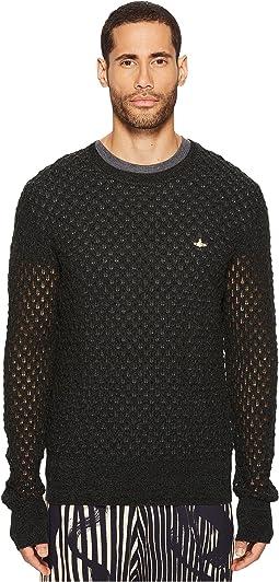 Fern Knit Crew Neck Sweater