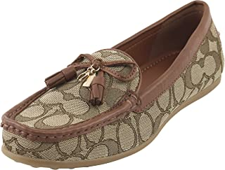 c18d88450 Coach Women's Signature Greenwich Loafers Shoes 7 B US Women in  Khaki/Saddle, Style
