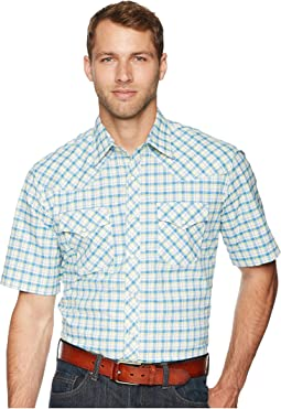 20X Short Sleeve Two Pocket Competition AC Snap Plaid