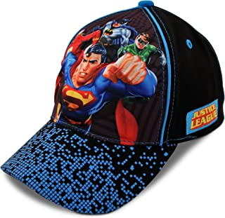 DC Comics Kids Baseball Cap for Boys Ages 2-7, Batman, Superman, Justice League 3D POP Little Kids and Toddler Baseball Hat