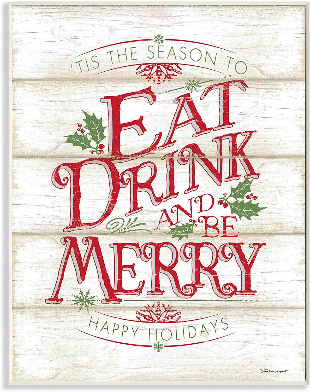 Stupell Industries Eat online shop Drink and Be 15 Merry 10 x Plaque Sale Wall