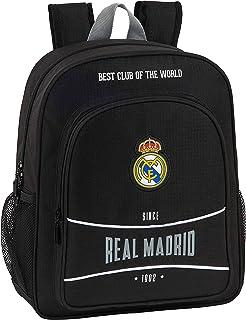612024640 Mochila Junior niño Adaptable Carro Real Madrid CF, Negro