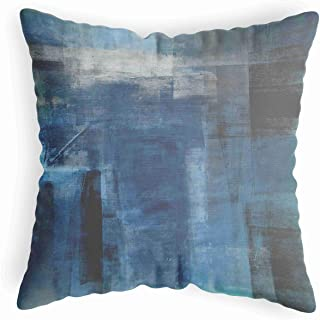 LucaSng Abstract Blue Couch Pillow Cover 20 X 20 for Living Room,Black Throw Pillow Cover for Bedroom Dorm,Decorative Body...