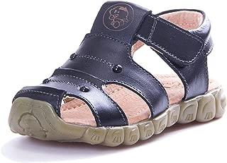 KVbaby Boy's Girl's Closed Toe Sandal Kids Summer Soft Soled Leather Sandal Outdoor Flexible Sandals