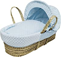 Kinder Valley Palm Moses Basket, Blue Dimple
