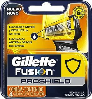 Gillette Fusion Proshield Cartuchos Para Afeitar (1 pack con 4 cartuchos)