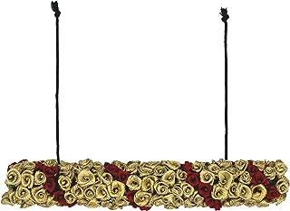 AmberRoze Golden with Maroon Rose Kondai Maalai