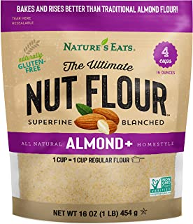 Nature's Eats Ultimate Nut Flour Almond Plus,Almond +, 16 Ounce