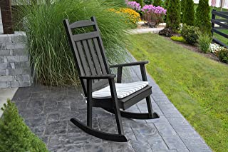 ASPEN TREE INTERIORS Best Poly Wood Rocking Chair, Stylish Patio Porch Seating, All Weather Fireplace Living Room Indoor Outdoor Furniture,US Amish Made, 14 Gorgeous Colors