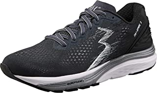361 Degrees Women's Spire 3 High Performance and Mileage Lightweight Running Shoe, Ebony/Black, 9.5D