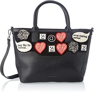 Desigual Accessories PU Hand Bag, Borsa a Mano. Donna, Nero, U