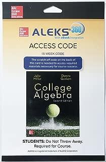 ALEKS 360 College Algebra, 2nd Edition 18 Week Access Code Card w/ eBook