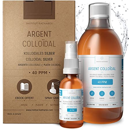 Premium Colloidal Silver 40ppm 17 fl oz ● Optimal Concentration Formula, Smaller Particles, Better Results ● Laboratory Certified ● Liquid Silver Made in EU ● Free Spray Bottle to Fill & Ebook