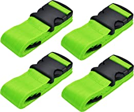 WeBravery Adjustable Luggage Strap Suitcase Belt Bag Straps Travel Accessories (Green 4Pack)