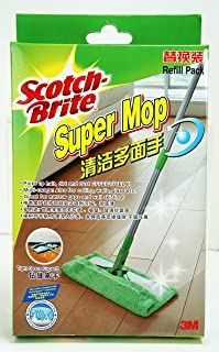 Scotch-Brite F1 Super Microfiber Mop Refill, Green